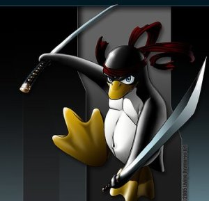 lets combine 2 things that have not been overdone at all.  Penguins AND ninjas